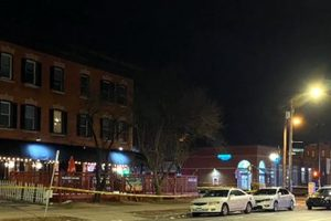 A 28-year-old man died in the shooting at the Majestic Lounge in Hartford's South End, said police lieutenant Paul Cicero. Two other men and two women were injured, two of them in surgery on Sunday morning and two in stable condition, he said. None of their names were released.