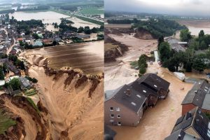 Floods in Germany Climate Change 2021 intense heat and rain